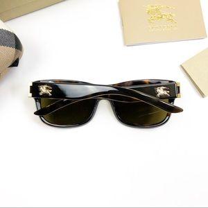 Burberry Authentic Tortoise Sunglasses Gold Emblem